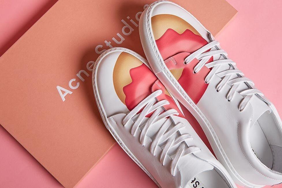 ACNE STUDIO Adriana Doughnut scarpe in  pelle stampate Dimensione 36  risparmia il 35% - 70% di sconto