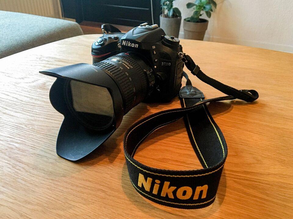 Nikon D7200 med to objektiver og tilbehør