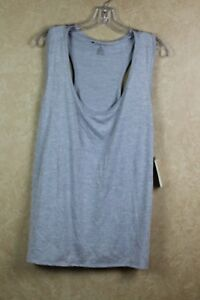 c12c5ee52e6 Ideology Women s Plus Silver Semi Fitted Racerback Tank Top NWT Size ...