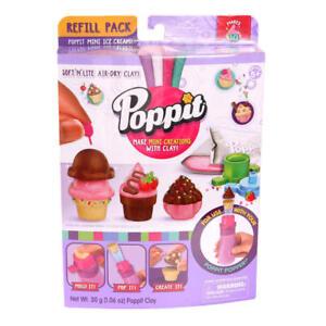 Poppit-Soft-039-N-039-Lite-Air-Dry-Mini-Ice-Cream-Clay-Refill-NIP