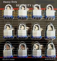 40 Mm Padlock - 12 Pc Keyed Alike - 1-1/2  Padlocks, New, Free Shipping on sale