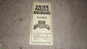 OLD-RAILWAY-TIMETABLE-BOOKLET-UNION-PACIFIC-RAILROAD-1936-OVERLAND-ROUTE