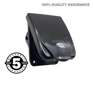 15A-AMP-Power-Outlet-Socket-For-RV-Caravan-Motor-Home-Black-Colour