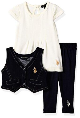 Baby Girls 3 Piece Vest Pick SZ//Color. US Polo Assn Childrens Apparel U.S