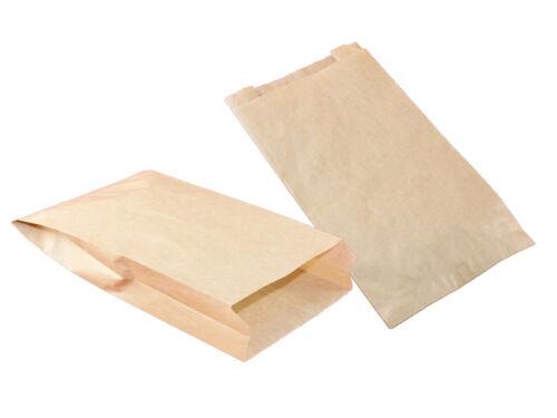 5 x 24 cm Brötchentüte Papiertüte 418-12 500 Bäckerfaltenbeutel 418 braun 12