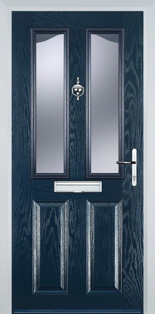 Composite Door | Blau | 2 Panel 2 Angle Angle Angle with Clear or Obscure Glass-FIXED PRICE 1cd142