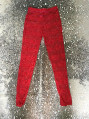 Betsey Johnson Womens Red  Lace Pants! NWOT!