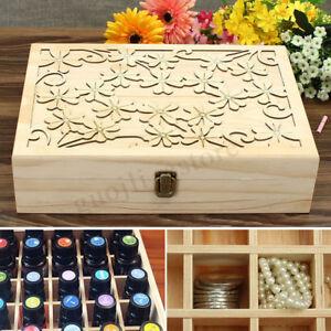 AU 70 Slot Essential Oil Box Storage Case Wooden Container