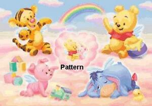 ea523cf92fef Baby Winnie the Pooh   friend. Cross Stitch Pattern. Paper Version ...