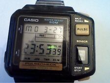 VINTAGE CASIO JP-100W 509 PULSE METER WATCH RUNS 4U2FIX PULSE