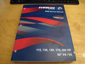 evinrude 115 130 150 175 200 hp e tec outboard motor service repair rh ebay com ST1102 Motor Manual Motors Shop Manual