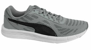 Puma-Meteor-FS-Grey-Black-White-Lace-Up-Mens-Trainers-190309-02-B4B