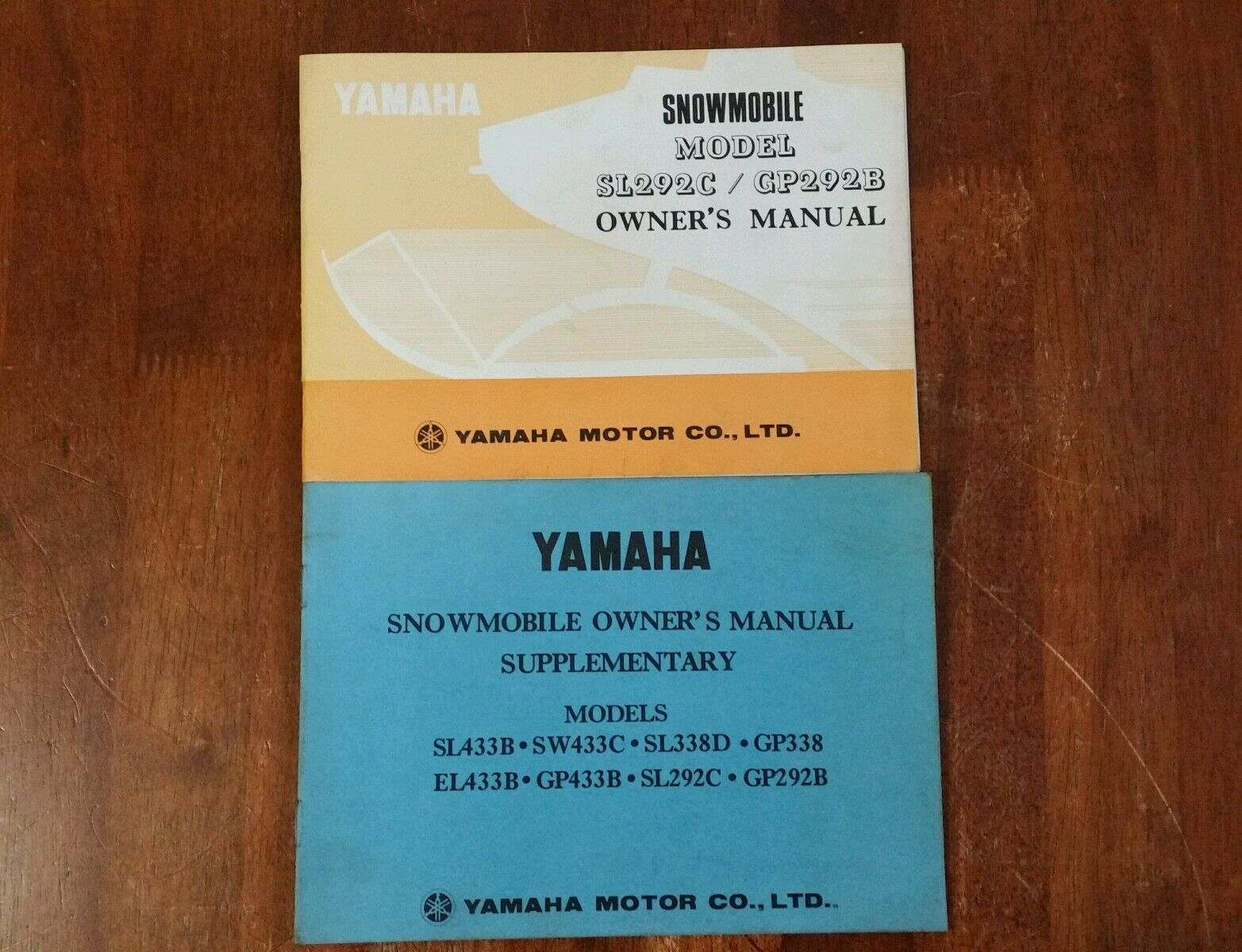 Vintage yamaha Snowmobile owner's manual  sl292c gp292b ski-doo moto ski mf  official quality