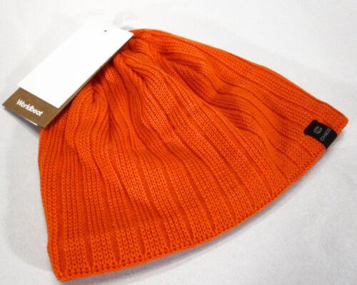 Chaos Hats Mens Technician Fine Gauge Beanie Neon Orange Hunting Ski Cap