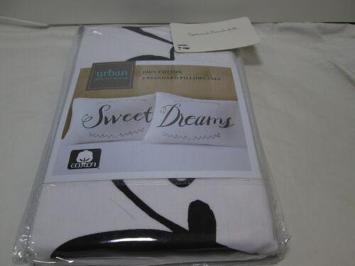 Urban Domain Pillow Talk SWEET DREAMS 2 Standard Pillowcases  ~ NEW