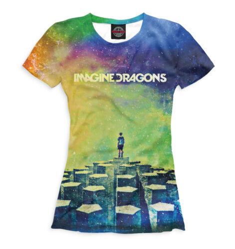 Imagine Dragons T-Shirt-acide de couleur Imprimé
