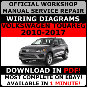 official workshop service repair manual volkswagen touareg 2010 2017 rh ebay co uk 2011 VW Golf Engine Wiring 2011 VW Golf Engine Wiring