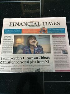 Tessa-Jowell-Obituary-Front-Page-Politician-Newspaper-Financial-Times-14-05-2018