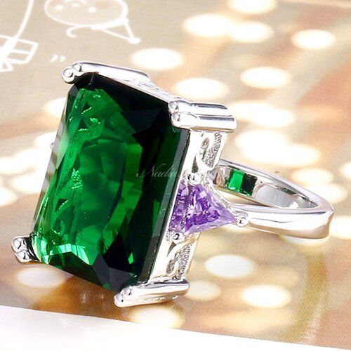 Awesome NEW 11 CT Emerald Cut RingSize 7Drop Dead GorgeousGift Bag Included