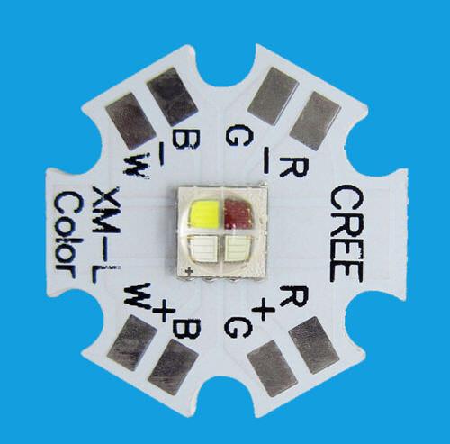 Cree XLamp XM-L RGBW RGB White Warm White Color LED Emitter 4-Chip 20mm Star