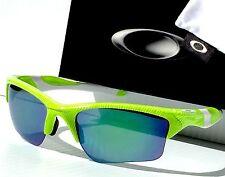 NEW* Oakley HALF JACKET 2.0 Neon Green Fingerprint Blue XL Lens Sunglass 9154-53