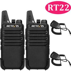 2XWalkie Talkies Retevis RT22 2W UHF 16CH TOT VOX Scan Squelch 2-Way Radios US