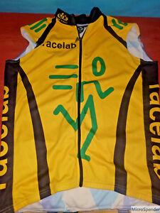 Details about Pactimo Race Lab Running Triathlon Jersey Mens Sz Medium  Yellow Black Sleeveless