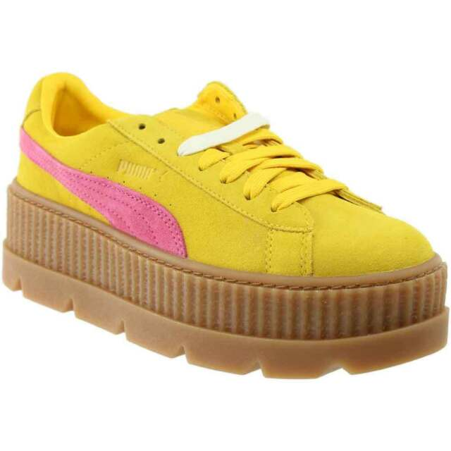huge discount 8954a b5d67 Puma Fenty by Rihanna Suede Cleated Creeper Casual Sneakers Yellow - Womens  -