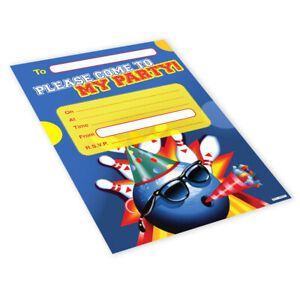20x-Childrens-Kids-Birthday-Party-Invitations-Invites-Pack-Blank-Bowling