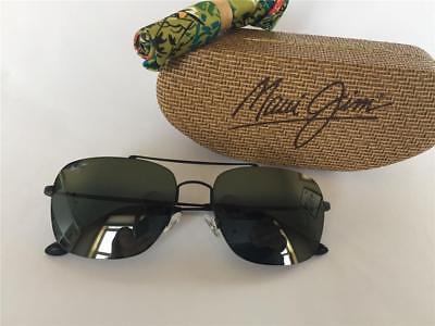 New Maui Jim LAVA TUBE Polarized Titanium Sunglasses P786-24B Mat Sepia//Sunrise