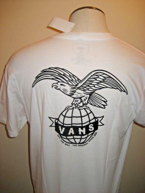 e42fc8b902 Mens VANS off The Wall Global Landing Eagle Worldwide Shirt White Summer XXL