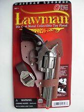 prop SHERIFF/Lawman die cast Pistol Cowboy Western Toy CAP GUN Colt 45 Spain New