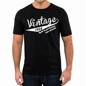 65th-Birthday-Present-Gift-Year-1954-Aged-To-Perfection-Retro-T-Shirt-Unisex-Tee