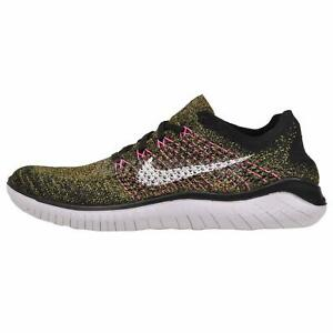 Details about Nike Free RN Flyknit 2018 Running Mens Shoes Black White Multi color 942838 004