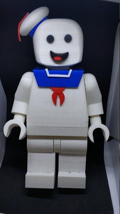 Lego Personalizado Gigante 3D Impreso Permanecer Puft Marshmallow Man-Stay Puft
