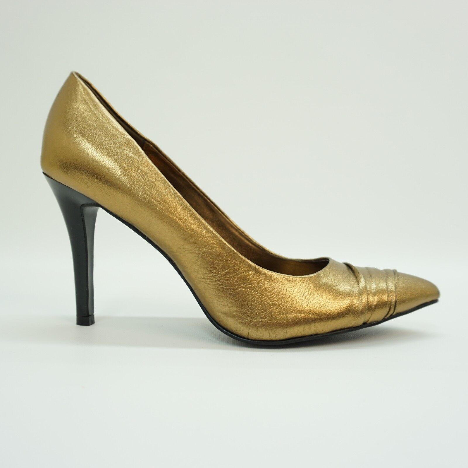 Carlos By Carlos Santana Women shoes Chapter Pump Heel Bronze Metallic Leather 8M