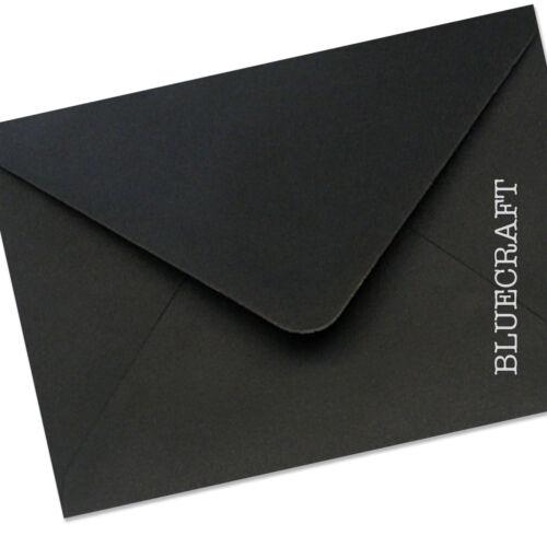 500 X A5 C5 Negro Azabache Sobres 100gsm 162 X 229mm 6.37 X 9.01 pulgadas