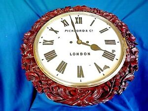 Fabulous Carved Mahogany Double Fusee Wall Clock Ebay