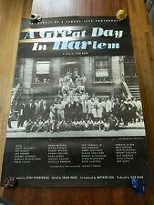 GREAT DAY IN HARLEM Original U.S. ONE SHEET MOVIE POSTER (JAZZ DOCUMENTARY)