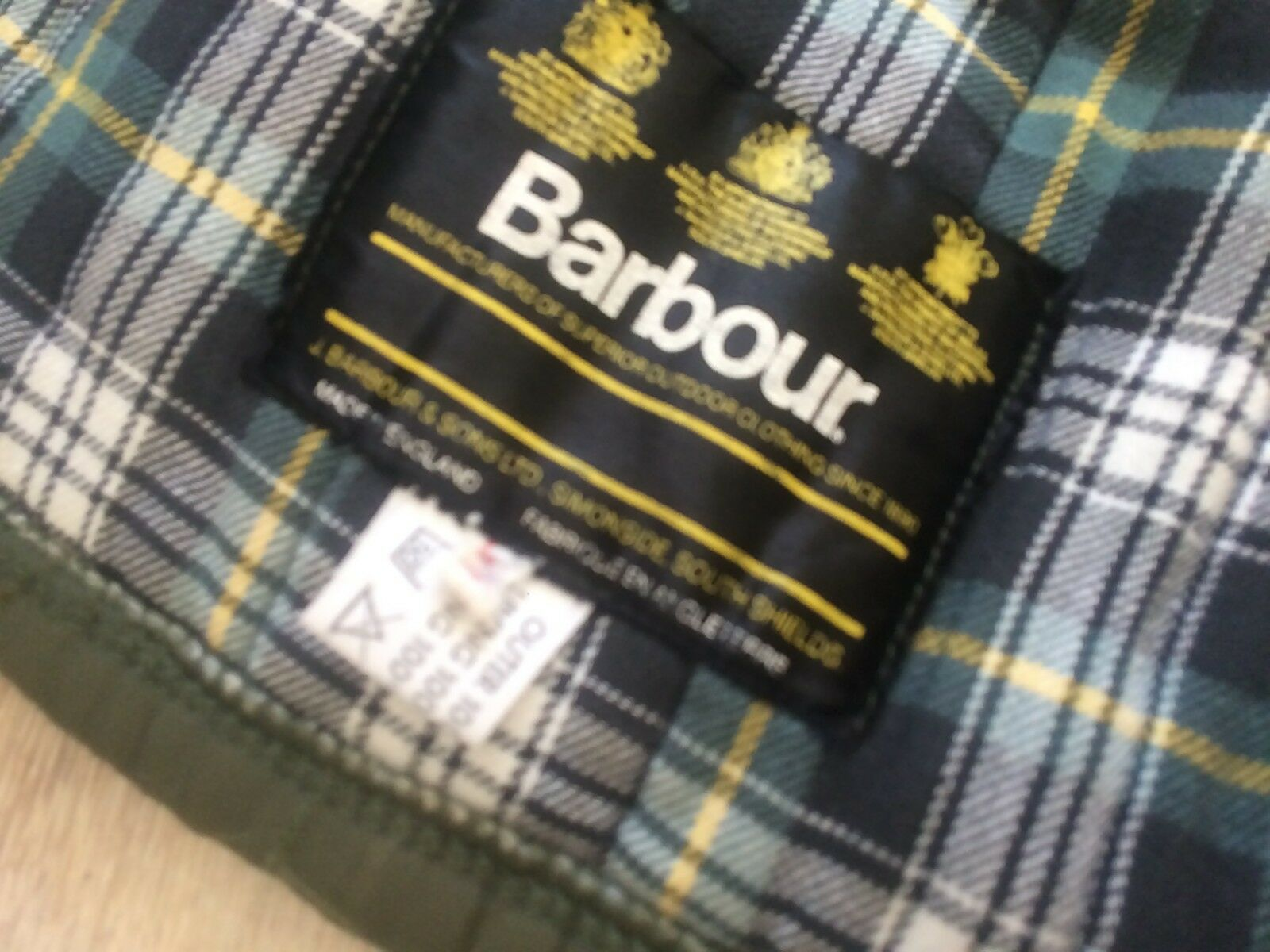 Rare BARBOUR Vintage Men Hunt Quilted Puffer Down… - image 5