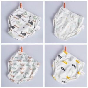 Bamboo Toddler boy girl Training Pants Toilet Potty Pull Up Washable 3 designs