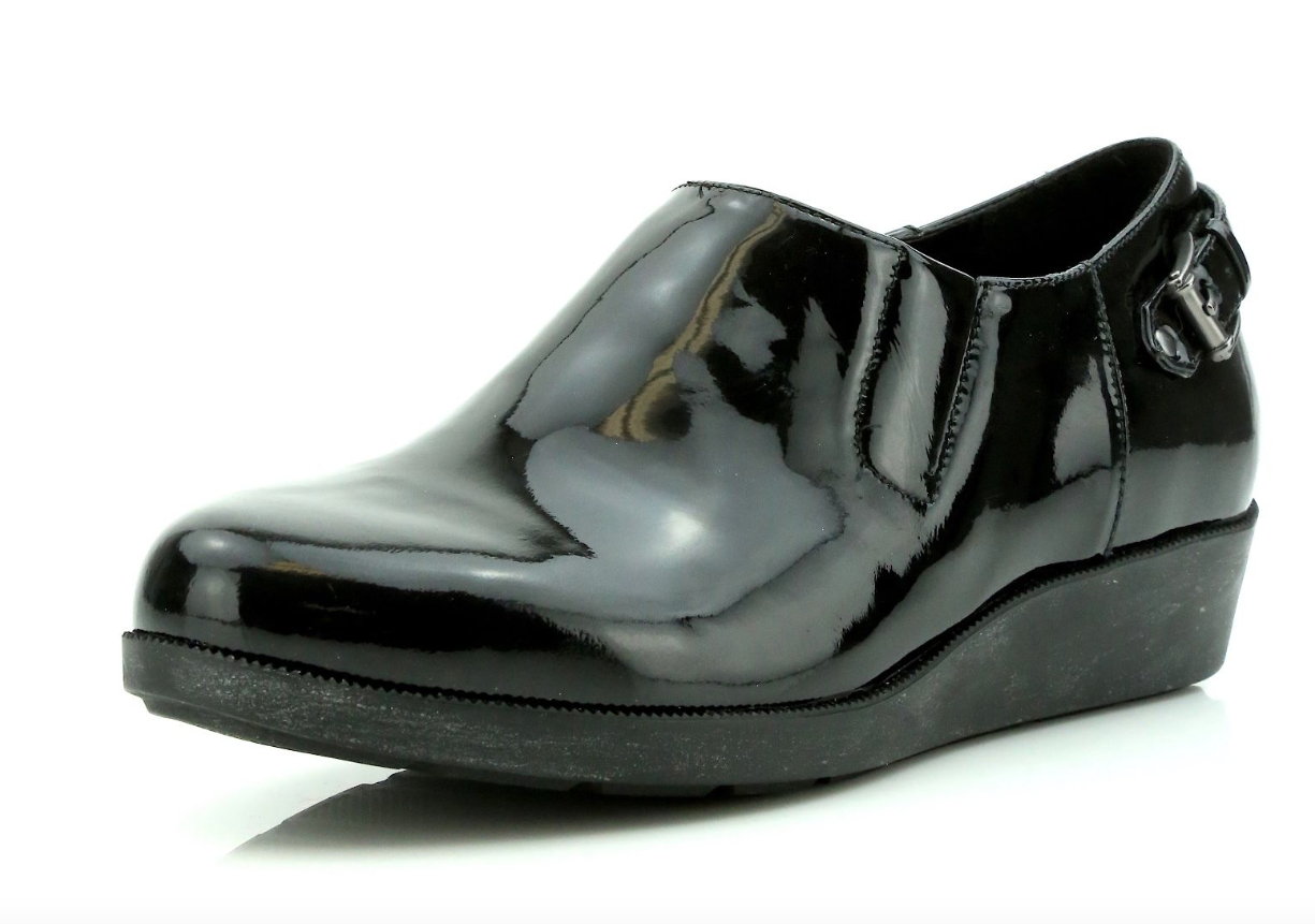 Cole Haan Air Tali Black Rain Slip On Wedge Loafers 7151 Size 6.5 B NEW