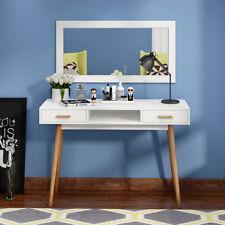 Scandinavian Dressing Table With Vanity Mirror Retro Makeup Desk 2