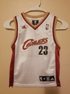 pick up 89444 ce71c Details about Adidas NBA Cleveland Cavaliers Lebron James Jersey #23 Boys  Size Medium (5-6)