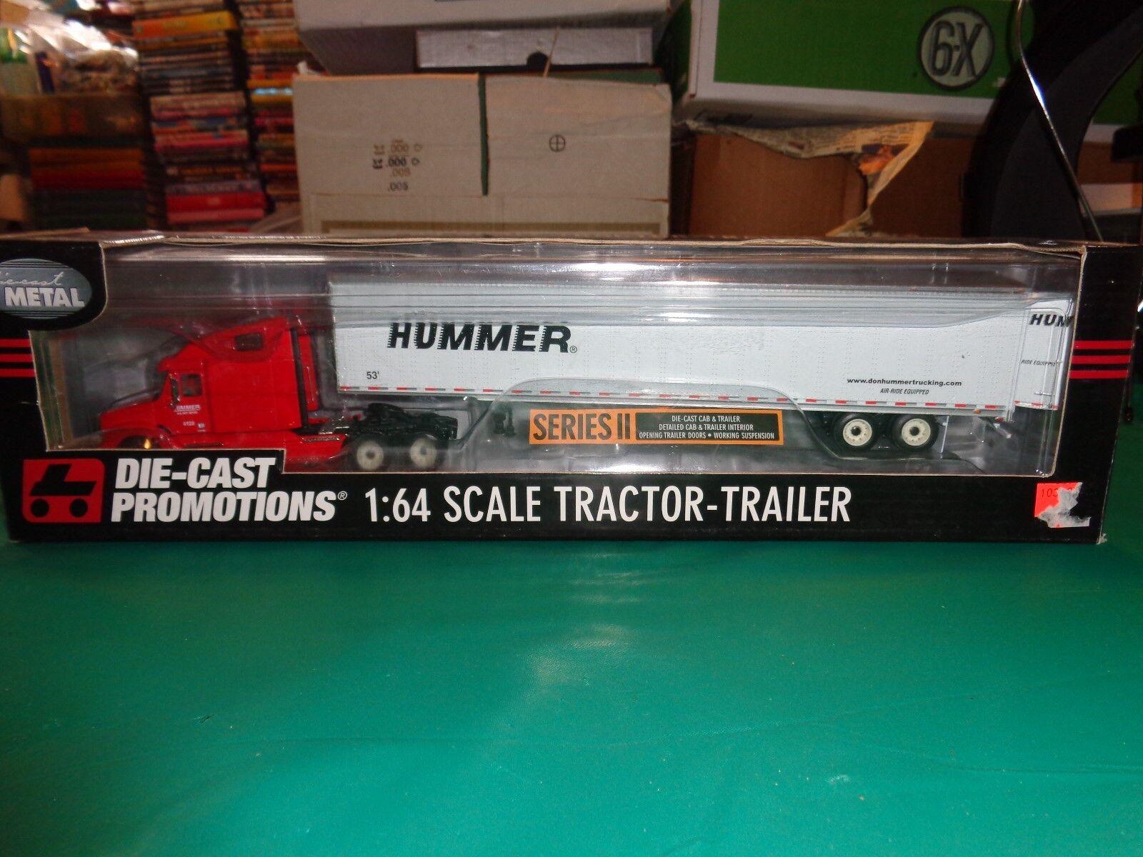 ERTL DIE CAST Promotions Don Hummer CAMION SEMI tracteur remorque échelle 1 64