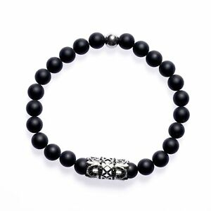 Royal-EGO-Messieurs-Bracelet-Perles-Bracelet-Homme-Bijoux-Camee-Casual-SALE