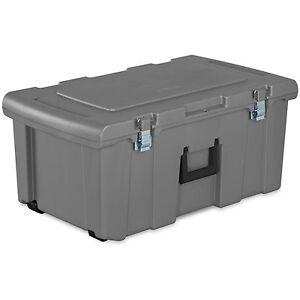 Image Is Loading Storage Trunk Wheeled Tool Box Chest Organizer Dorm