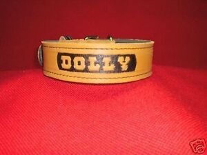 CUSTOM-MADE-2-IN-LEATHER-COLLAR-POLICE-K-9-SCHUTZHUND-HAND-CRAFTED-LOOK