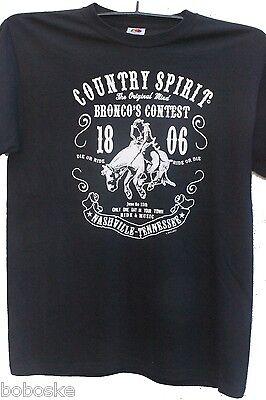 T-shirt Manche Courte Homme 100% Coton Country Motif De Face Uniquement Fijn Verwerkt
