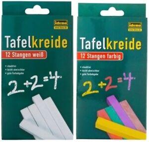 24-Stangen-Tafelkreide-Kreide-Schulkreide-Wandkreide-Malkreide-Chalks-farbig-wei